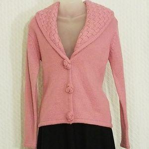 Vintage BCBGMaxAzaria Pink button up sweater